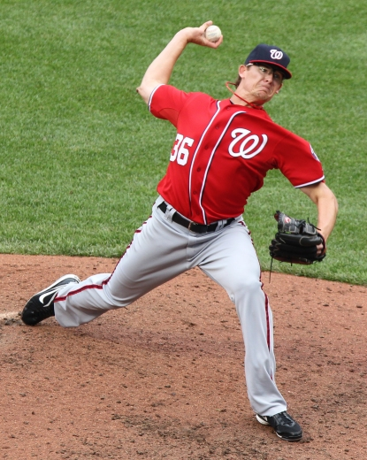 Washington Nationals relief pitcher Tyler Clippard (36)